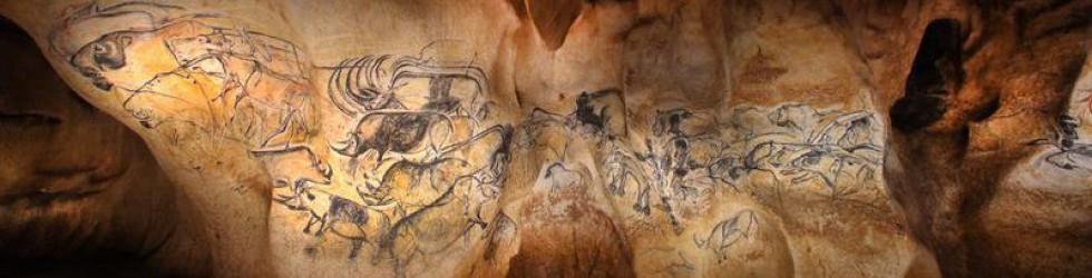 Caverne du Pont d\'Arc - le-panneau-des-lions©Patrick Aventurier.JPG