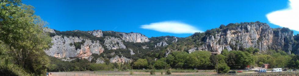 Gorges de l\'Ardèche - PANO Cirque d\'Estre Grotte Chauvet©Pierre GERAULT
